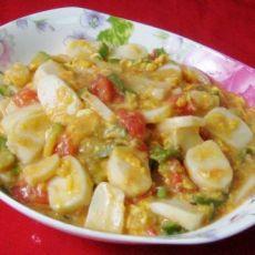 蛋花杂蔬炒年糕