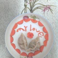 胡萝卜木耳鸡蛋水饺