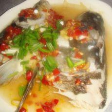 萝卜丝蒸剁椒鱼头