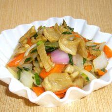 就粥小菜――双葱烩萝卜的做法