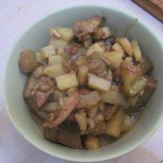 土豆茄子焖鸡块