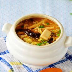 木须酸辣汤的做法