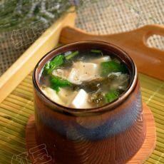 虾皮紫菜豆腐羹的做法
