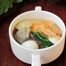鲜虾三鲜汤的做法