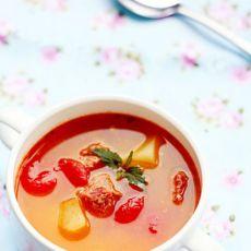 西红柿牛肉汤的做法