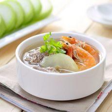 脊骨冬瓜鲜虾汤的做法