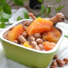 木瓜花生鸡爪汤