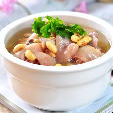 黄豆蹄花汤
