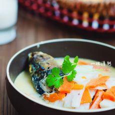 山药胡萝卜鲫鱼汤的做法