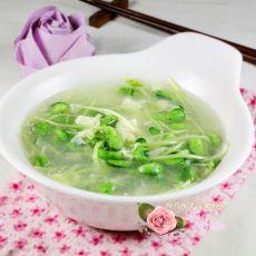 豆腐豆苗蛋花汤