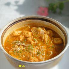 泡菜金针菇汤的做法