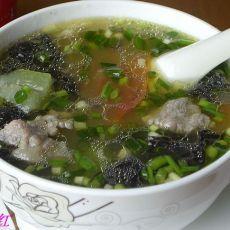 紫菜丝瓜肉片汤的做法