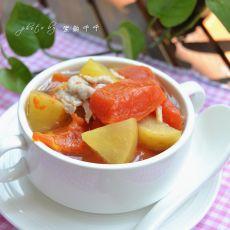 木瓜苹果汤的做法