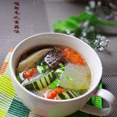 秋日滋补汤---鸡架冬瓜菌菇汤