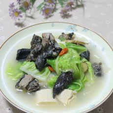 乌鸡白菜豆腐汤的做法