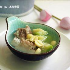 莲子丝瓜排骨汤