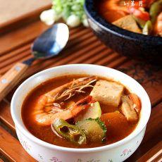 韩式鲜虾大酱汤的做法