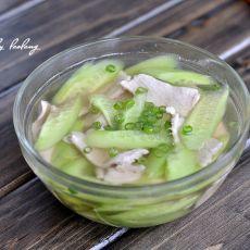 黄瓜肉片汤的做法