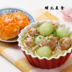 蟹粉冬瓜丸子汤