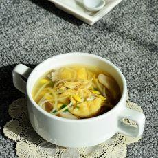 虾皮油豆腐黄豆芽汤