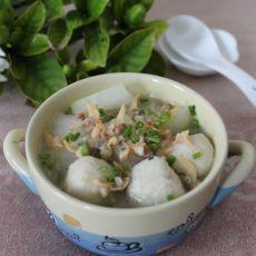 蛤蜊鱼丸冬瓜汤的做法