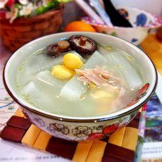 白果萝卜鸡汤