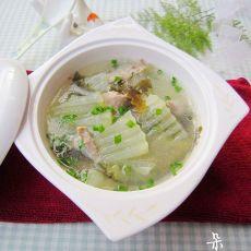 冬瓜海带肉片汤的做法