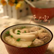 菌菇肉丸甘蔗汤