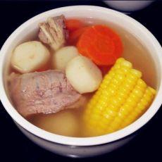 茅根玉米马蹄养生汤