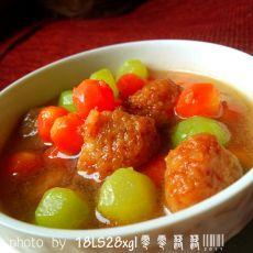 彩色丸子汤