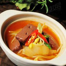在家做韩式料理---韩式猪血汤的做法
