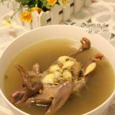 百合绿豆鸽子汤的做法