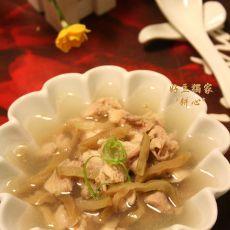 榨菜鸡肉汤的做法