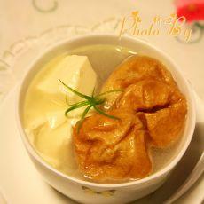 绢豆腐油面筋鱼汤