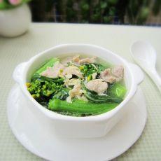 生滚菜心肉片汤