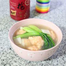杏鲍菇鲜虾丸汤