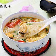 海虹番茄鸡蛋疙瘩汤