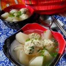 豆腐鱼丸山药汤