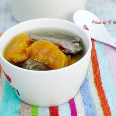 红薯排骨汤的做法