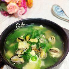 海虹白菜鸡蛋汤