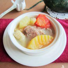 木瓜胡萝卜猪骨汤的做法