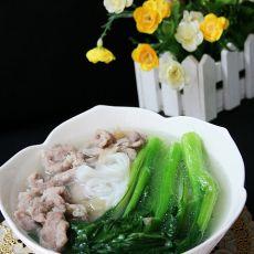 肉丝米粉汤的做法