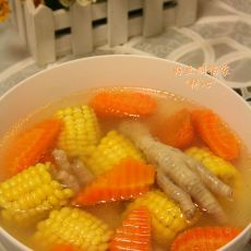 甘笋粟米鸡脚汤