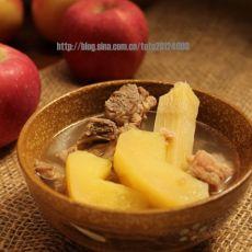 苹果竹蔗猪骨汤的做法