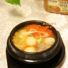 鱼丸大酱汤的做法