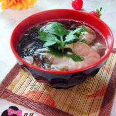虾皮鱼饺紫菜汤的做法