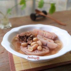 花生莲藕骨头汤的做法