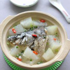 鲤鱼头炖冬瓜的做法