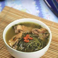 益母草煲老鸡汤的做法
