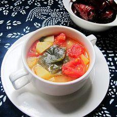 裙带菜番茄汤的做法